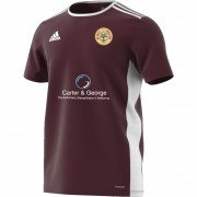 Old Owens CC Adidas Maroon Training Jersey