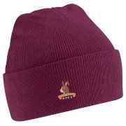 Over Peover CC Maroon Beanie
