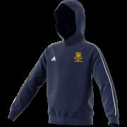 Leek CC Adidas Navy Junior Fleece Hoody
