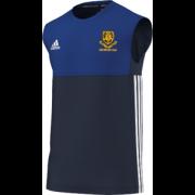 Leek CC Adidas Navy Training Vest