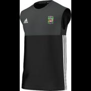 Burneside CC Adidas Black Training Vest