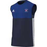 Whitminster CC Adidas Navy Training Vest
