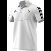 Buckden CC Adidas White Polo