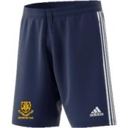 Leek CC Adidas Navy Junior Training Shorts