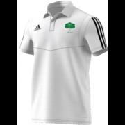 Hillam & Monk Fryston CC Adidas White Polo