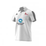 Gibraltar CC Adidas White Polo