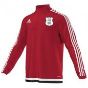 Yarm CC Adidas Red Junior Training Top