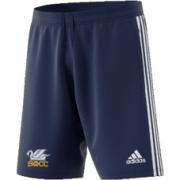 South Milford CC Adidas Navy Junior Training Shorts