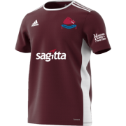 Swarkestone CC Adidas Maroon Junior Training Jersey