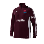 Swarkestone CC Adidas Maroon Junior Training Top