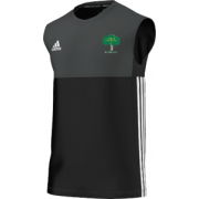 Hillam & Monk Fryston CC Adidas Black Training Vest