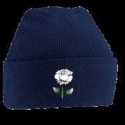 West Hallam White Rose CC Navy Beanie
