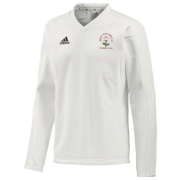 West Hallam White Rose CC Adidas L/S Playing Sweater
