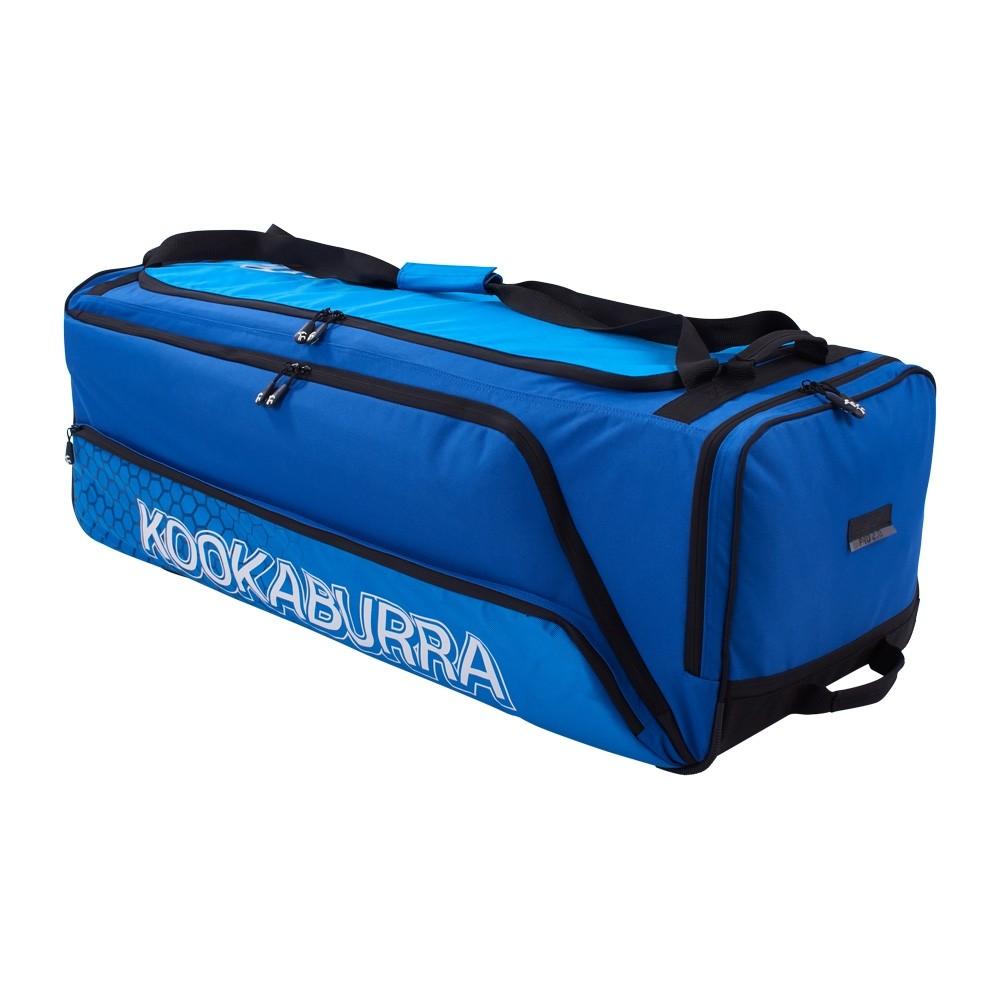 2021 Kookaburra Pro 2.0 Wheelie Cricket Bag - Navy/Cyan