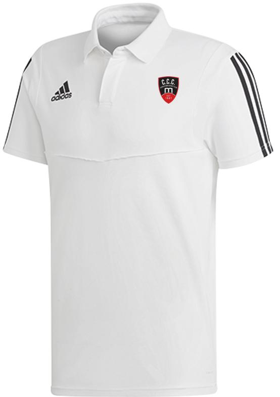 Churchtown CC Adidas White Polo