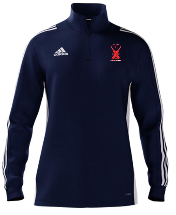 Cound CC Adidas Navy Zip Training Top