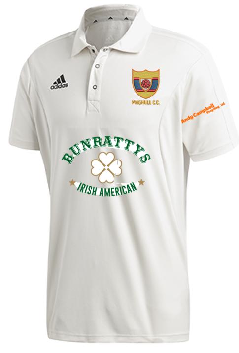 Maghull CC Adidas Elite Short Sleeve Shirt