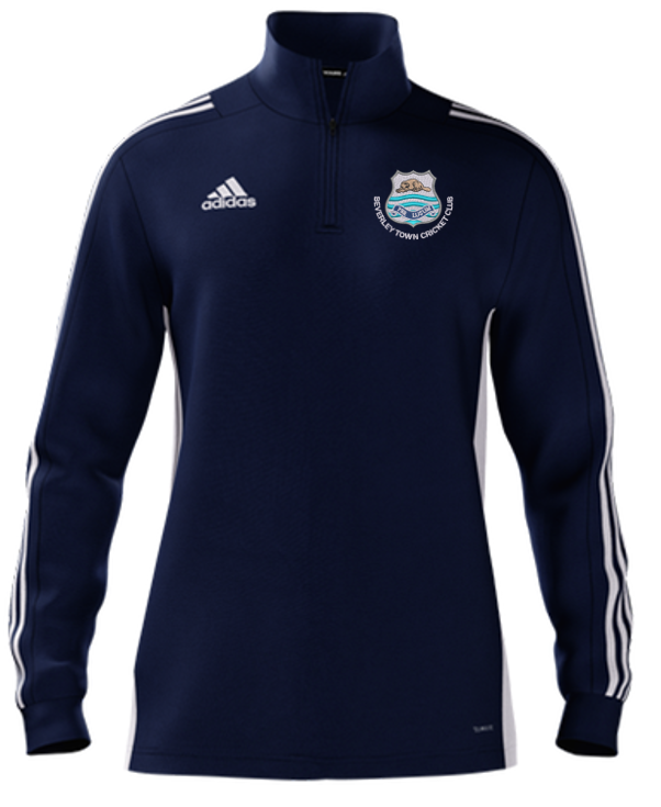 Beverley Town CC Adidas Navy Zip Training Top