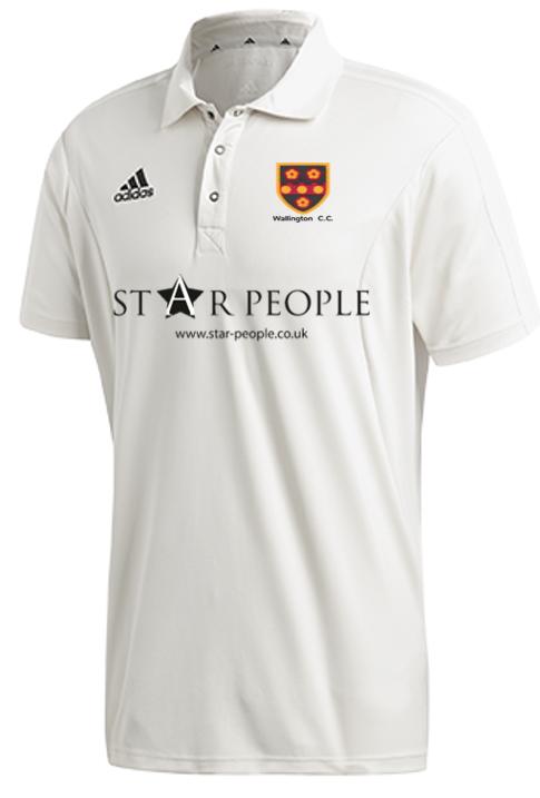 Wallington CC Adidas Elite Junior Short Sleeve Shirt