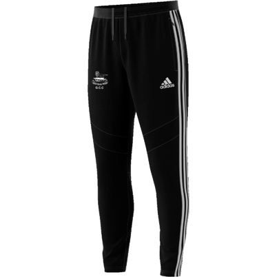Glossop CC Adidas Black Training Pants