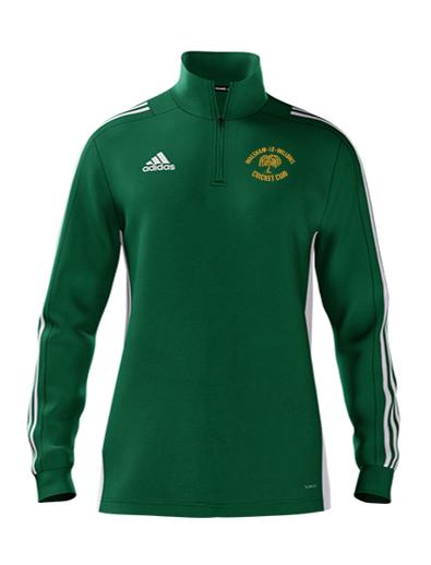 Walsham Le Willows CC Adidas Green Zip Training Top