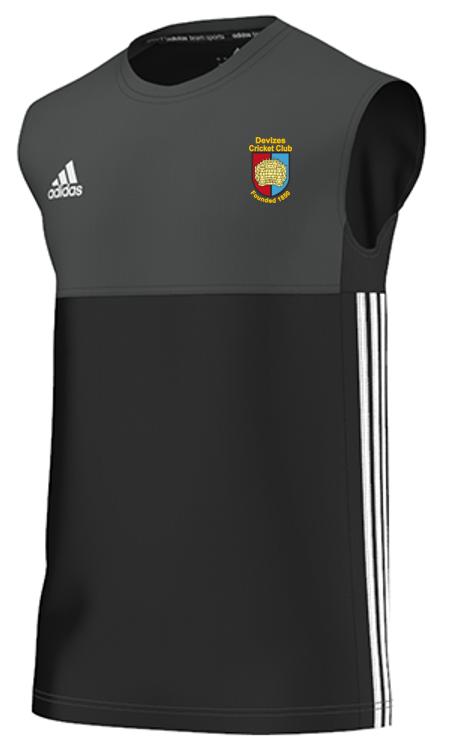 Devizes CC Adidas Black Training Vest