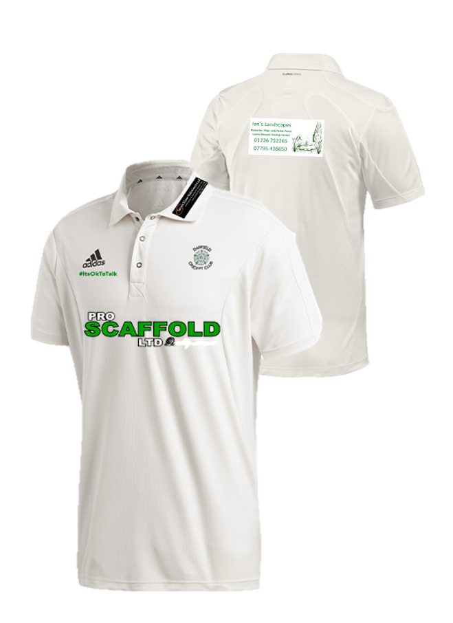 Darfield CC Adidas Elite Junior Short Sleeve Shirt