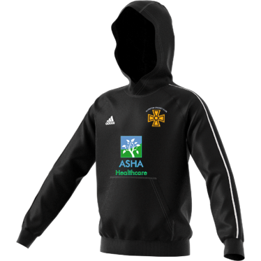 Alfreton CC Adidas Black Junior Fleece Hoody