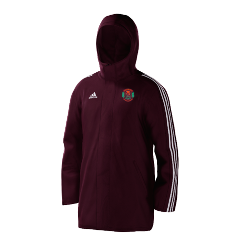 Maesteg CC Maroon Adidas Stadium Jacket