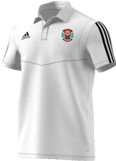 Maesteg CC Adidas White Polo