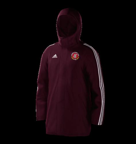 Burton CC Maroon Adidas Stadium Jacket