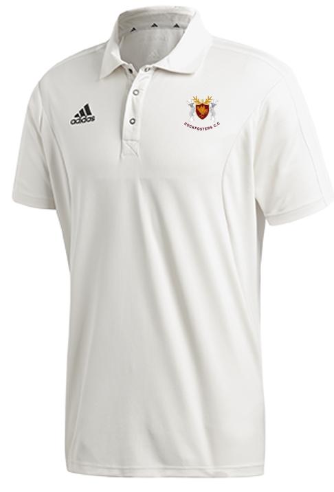 Cockfosters CC Adidas Elite Junior Short Sleeve Shirt