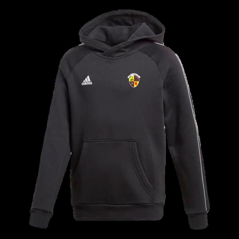 Evenley CC Adidas Black Junior Fleece Hoody