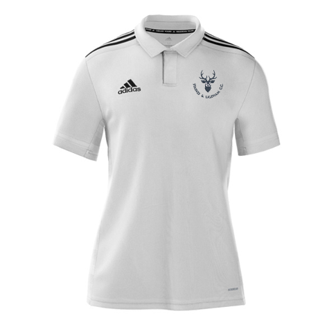 Staines and Laleham CC Adidas White Polo