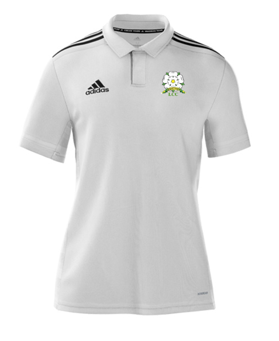 Loftus CC Adidas White Polo