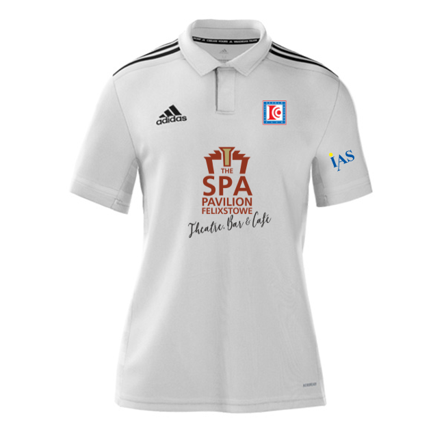 Dedham CC Adidas White Polo