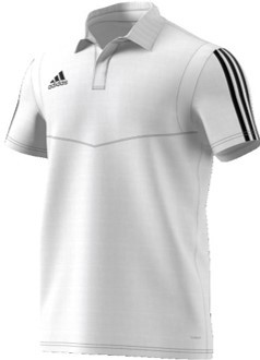 Uffington CC Adidas White Polo Shirt